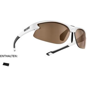Bliz Motion Brille für schmale Gesichter shiny white/amber